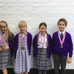 Children winning medals