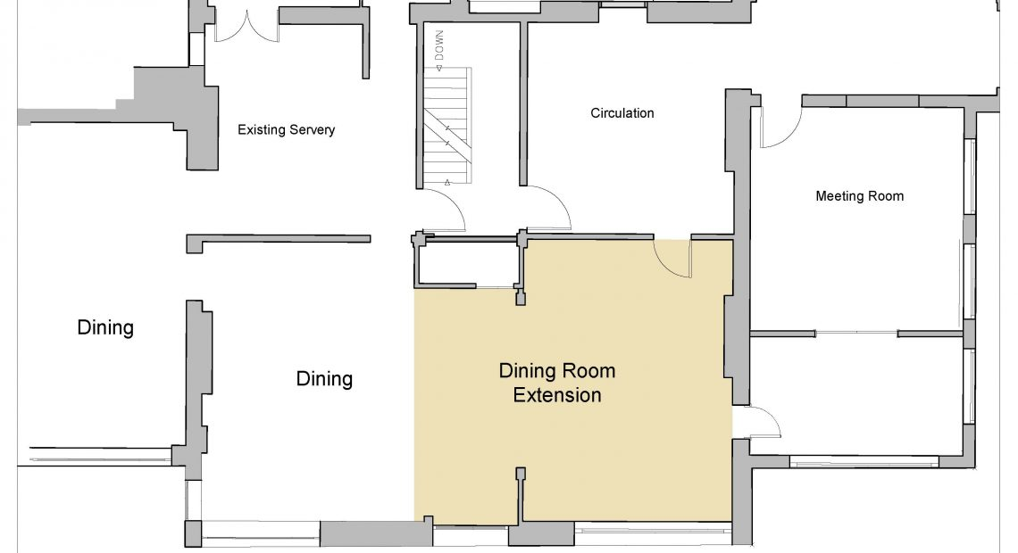 Dining Extension Area plan