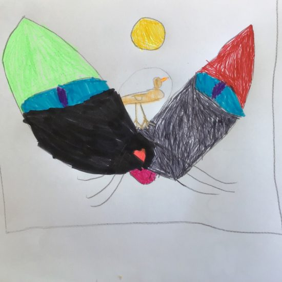 'Cat and Bird' by Alicia