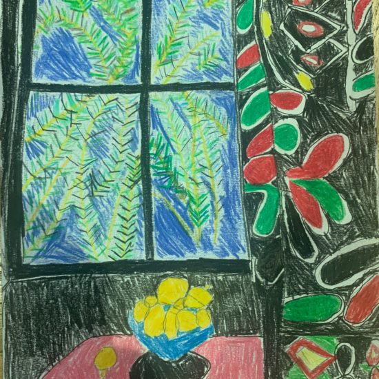 'Interior with Egyptian Curtain' by Charlotte