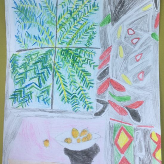 'Interior with Egyptian Curtain' by Chloe