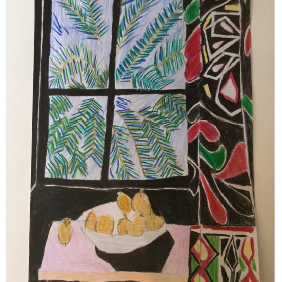 'Interior with Egyptian Curtain' by Harry (Y4)