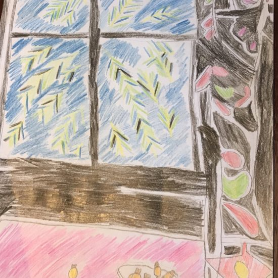 'Interior with Egyptian Curtain' by Harry (Y3)