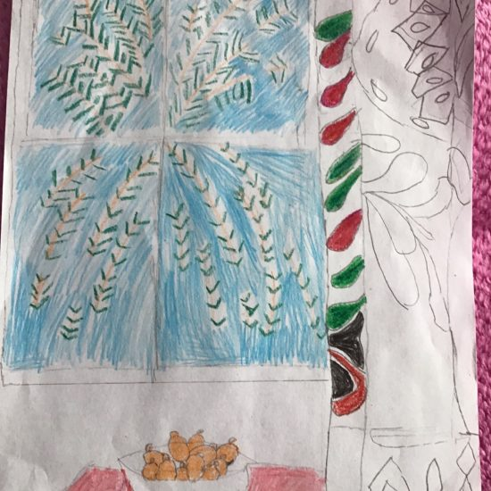 'Interior with Egyptian Curtain' by Isla