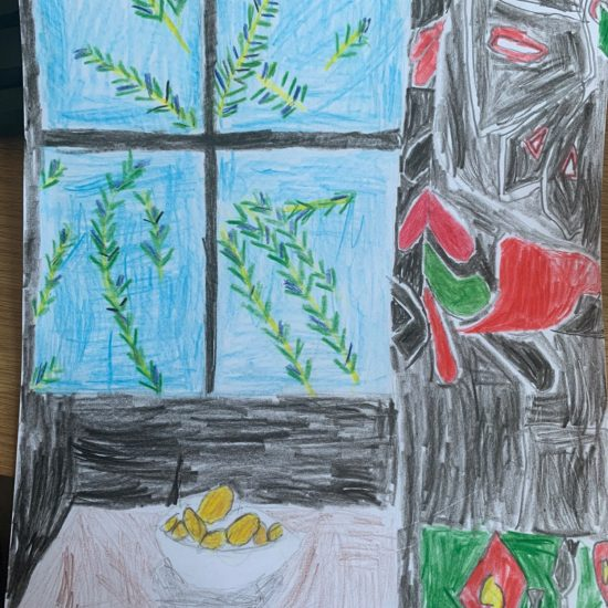 'Interior with Egyptian Curtain' by Josh