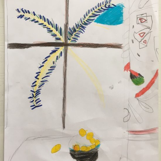 'Interior with Egyptian Curtain' by Olivia