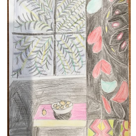 'Interior with Egyptian Curtain' by Zandra