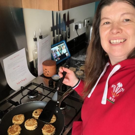 Teacher Making Welsh Cakes